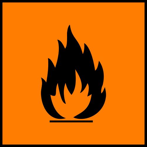 señalización inflamable pictogramas de seguridad